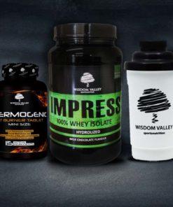 πακέτο αδυνατίσματος με πρωτεΐνη whey isolate και fat burner με δώρο shaker